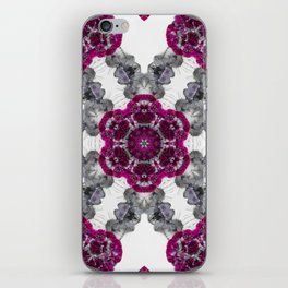 Kaleidoscope Flowers in Pink and Purple #1 iPhone Skin