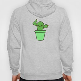 Cute cactus in green pot Hoody