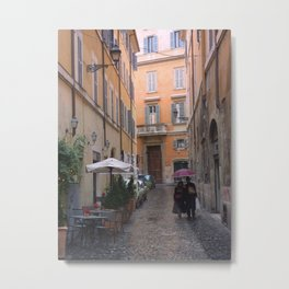 An Alley in Rome Metal Print