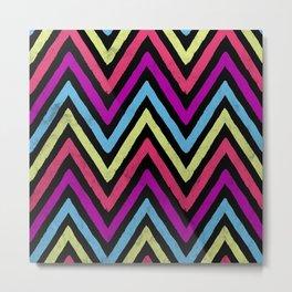 Native Neon Stripes Metal Print