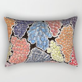 Grapes for wine lovers, gastronomy and restaurants Rectangular Pillow