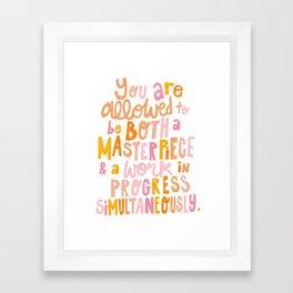 Masterpiece & Work In Progress Framed Art Print