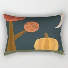 Vintage Pumpkin Patch Halloween Night Moon Rectangular Pillow