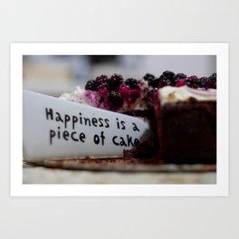 Happiness is Cake Art Print