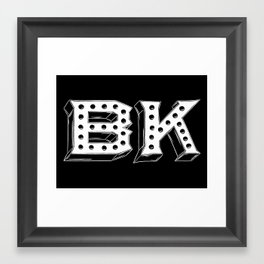 Inverted Brooklyn Framed Art Print