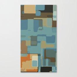 Circuits and Shapes Canvas Print