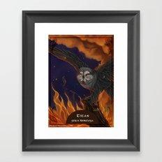 Solar owls titan Framed Art Print