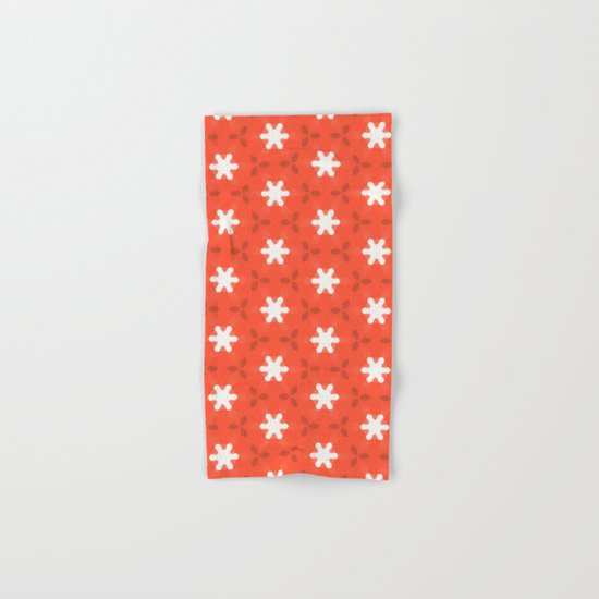 white star on red pattern Hand & Bath Towel