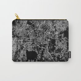 Kuala Lumpur Black Map Carry-All Pouch