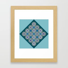Prelude to Metatron (Turquoise) Framed Art Print