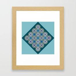 Prelude to Metatron (Turquoise) Framed Art Print
