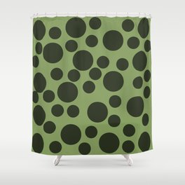 Army Green Dots Shower Curtain