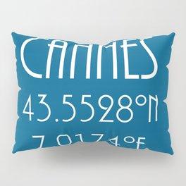 Cannes Latitude Longitude Pillow Sham