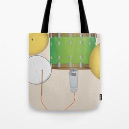 Drum Set Print Tote Bag
