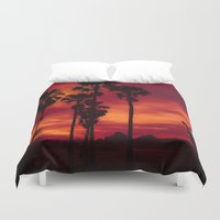 thailand Duvet Covers featuring Sunrise in Thailand by Aloke Photography