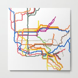 NYC Subway System (Complete) Metal Print