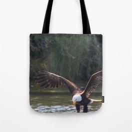 Bald Eagle Fishing at Oak Bay Tote Bag