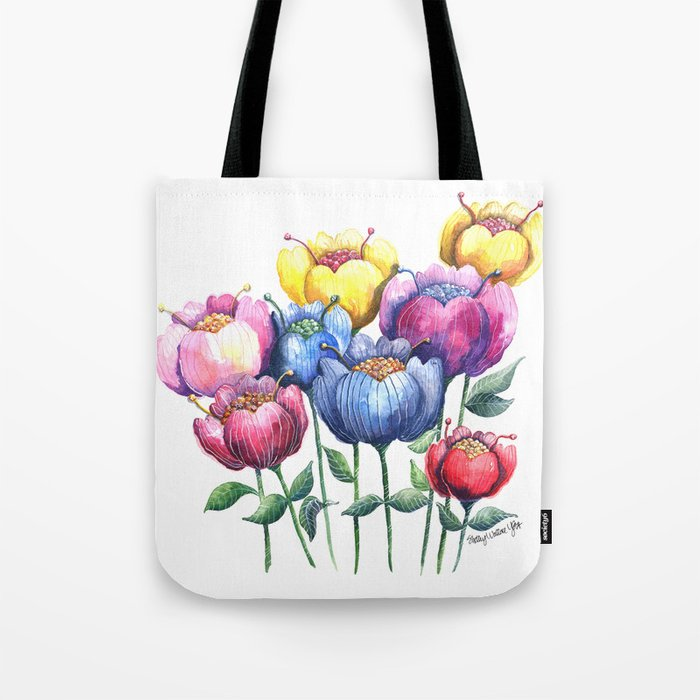 Dancing Posies Tote Bag