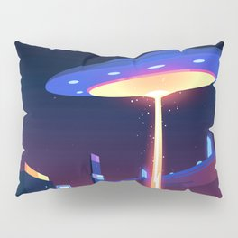 Synthwave Neon City #18 Pillow Sham
