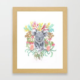 Home Among the Gum leaves Framed Art Print