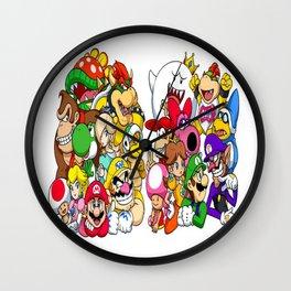 Super Mario Bros characters Wall Clock