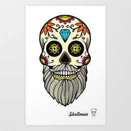 Day of the Dead Skull (18) Art Print