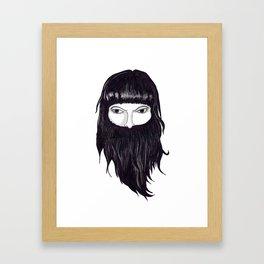 femme à barbe Framed Art Print