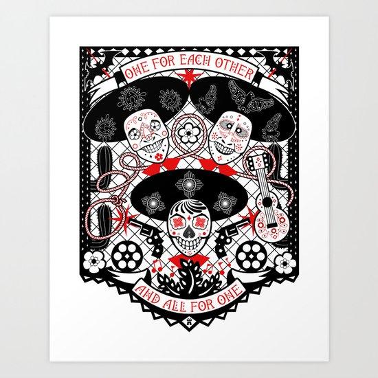 Amigos Forever Art Print