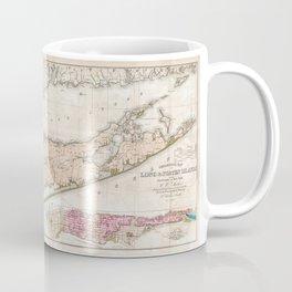 Long Island New York 1842 Mather Map Coffee Mug