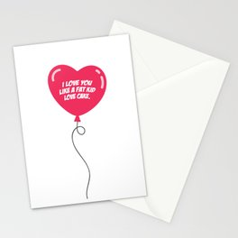 HEART BALLOON Stationery Cards