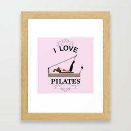 I love pilates Framed Art Print