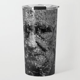 William S. Burroughs Typographical Portrait Travel Mug