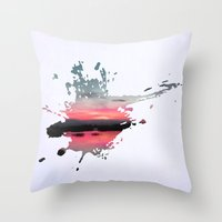storm Throw Pillows featuring Storm by Last Call