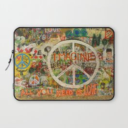 Peace Sign - Love - Graffiti Laptop Sleeve