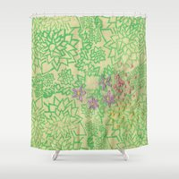 the thing Shower Curtains featuring Thing by Annesleyart