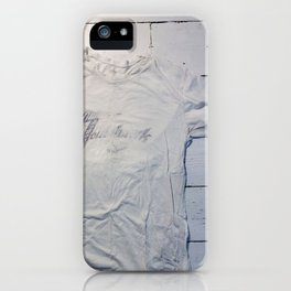 the impermanence of his tomahawk tee iPhone Case