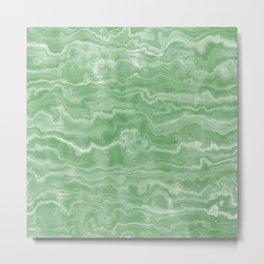 Egyptian Marble, Jade Green Metal Print