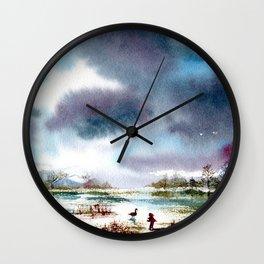 The last goose Wall Clock