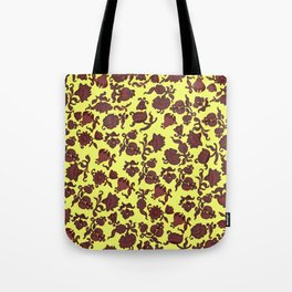 red flowers and leaves . art Tote Bag