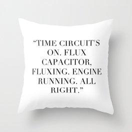 Flux Capacitator Throw Pillow
