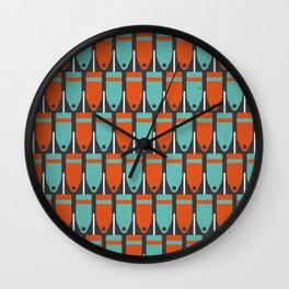 Buoys, Orange & Blue Wall Clock