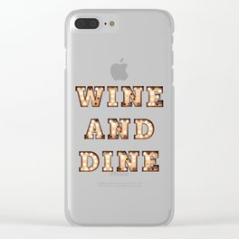 Wine and Dine - Bulb Clear iPhone Case