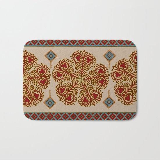 Flower pattern #0243 Bath Mat