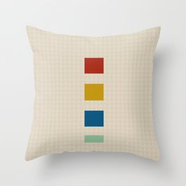 four elements || tweed & primary colors Throw Pillow