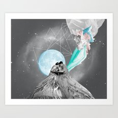 FUTURE IS BLUE Art Print