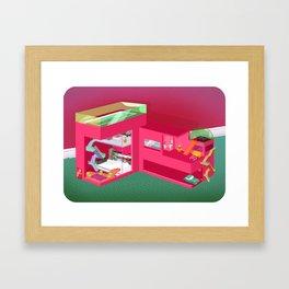 Doll House Framed Art Print