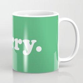 Merry. in Green Coffee Mug
