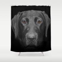 olivia joy Shower Curtains featuring Olivia by Vix Edwards - Fugly Manor Art