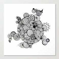 Geometric Art Circles Sunbursts lines pen and link Canvas Print