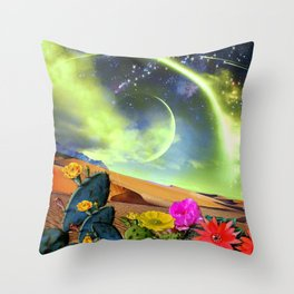 Cactus Land Throw Pillow